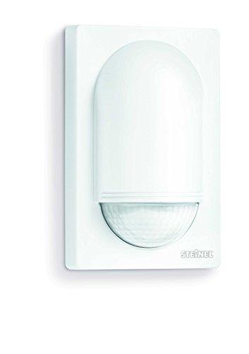 Steinel Bewegungsmelder IS 2180-5 weiß, 180°|20 m Sensor, 4 h Dauerlicht, 1000 W, Unterkriechschutz, inkl. Eckwandhalter