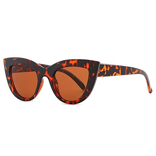 LWZ Nuevas Gafas de Sol de Ojo de Gato de Moda, Gafas de Sol de Moda de Estilo Retro Moderno, Gafas de Sol de Montura pequeña,4