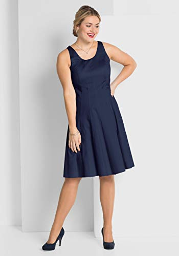 Sheego Cocktailkleid Abendkleid Partykleid Gr 46 L blau (764390) - Katalogpreis: 89,90€