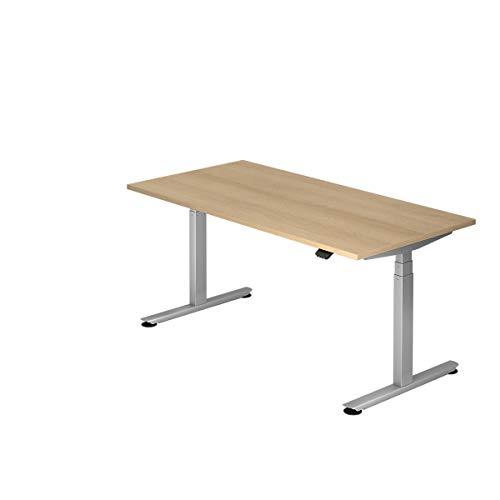 Hammerbacher Schreibtisch, elektrisch höhenverstellbar, Breite 1600 mm, Tischplatte Eiche | VXDLB16/E/S - Schreibtische höhenverstellbar desks height adjustable
