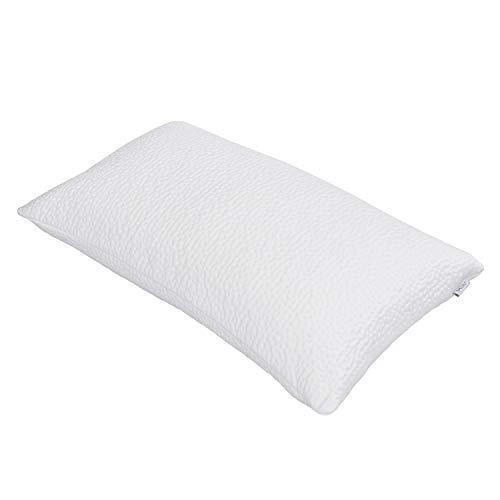 MLILY Harmony Cool Shredded Memory Foam, almohada de cama, almohada de refrigeración para dormir de espalda lateral con funda extraíble lavable, CertiPUR-US, Queen, 28 x 18 pulgadas