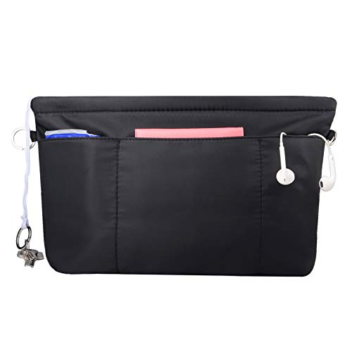 NOTAG Taschen Organisator Wasserdichtes Nylon Taschenorganizer Multi-Tasche Innentaschen für Handtaschen (Schwarz, M)