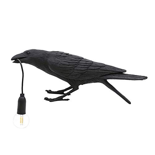 MEILINL Diseñador Crow Bird Nórdica Lámpara De Mesa LED De Mordern Art Deco Decoración De Noche Lámparas De Mesa para Salón Dormitorio Y Oficina Decoración,Negro,3