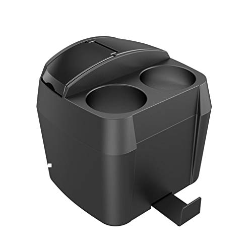 MHQCL Trash Can Car Interior Trash Can Multi-function Storage Box Beverage Cup Holder Garbage Bin Car Supplies Desktop Trash (Color : Black)