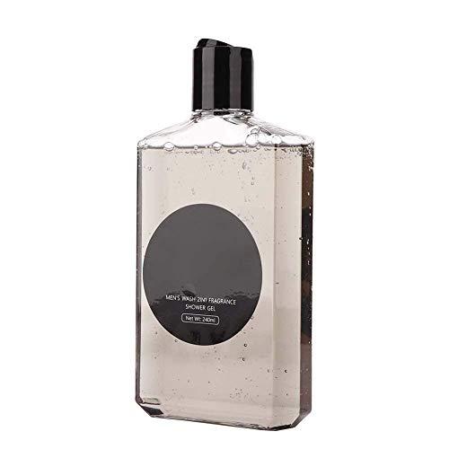 Gel de ducha para hombres de 240 ml, champú de gel de ducha 2 en 1 hidratante, nutritivo, limpieza profunda para hombres, gel de baño perfumado, gel hidratante, limpiador corporal para la piel
