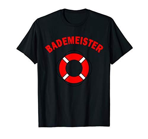 Bademeister Rettungsring Schwimmreifen Schwimmbad Sprüche T-Shirt