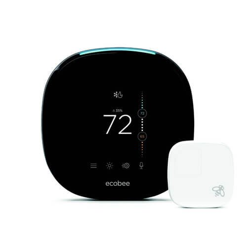 Ecobee4 Voice Enabled Smart Wi-Fi Thermostat w/Room Sensor