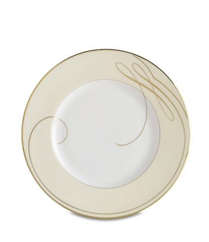 Waterford Ballet Ribbon Gold Champagne 9-Inch Accent Plate