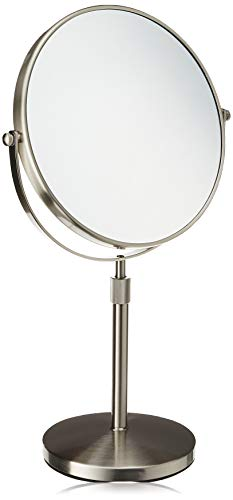 Jerdon JP4045N 9-Inch Vanity Mirror with 5x Magnification, Nickel Finish