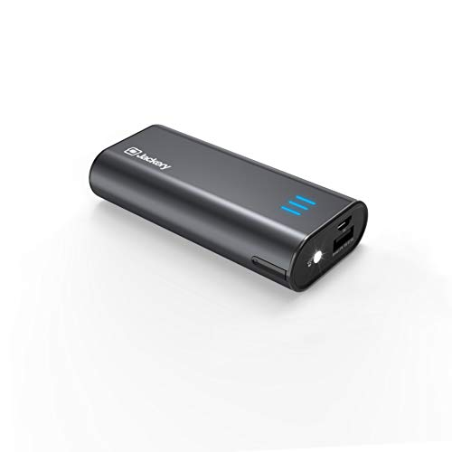 iPhone Battery Charger with Built-in Lightning Cable - Jackery Bolt 6000 mAh Portable Charger Power Outdoors, [Apple MFi Certified] Compact Power Bank, Twice as Fast as Original iPhone Charger