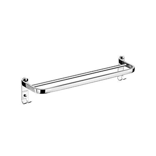 GWM Barres porte-serviettes Support de serviette adhésif double barre de rail de serviette d'acier inoxydable fixé au mur, ajustement pour la cuisine de salle de bains (taille : 98cm)