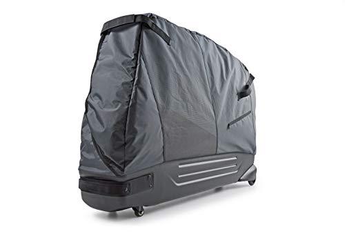 B&W International Padded Lightweight Zippered Bike Bag and Case II with 4 Wheels, Black