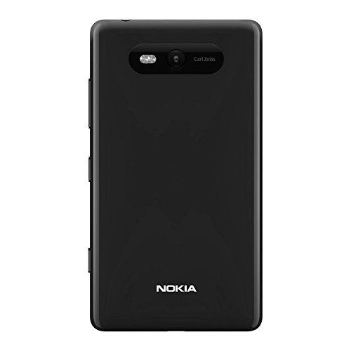 Nokia Custodia Posteriore Rigida in Plastica per Modello Lumia 820, Nero