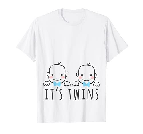 Embarazada Géminis Mamá Baby Girl Boy Para La Madre Camiseta