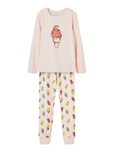 NAME IT Mädchen Nkfnightset Potpourri Ice AOP Noos Pyjamaset, 134-140 (2er Pack)