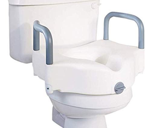 Platinum Health Premium Locking Raised Toilet Seat with Arms. Fits Most Round and Elongated Toilets.