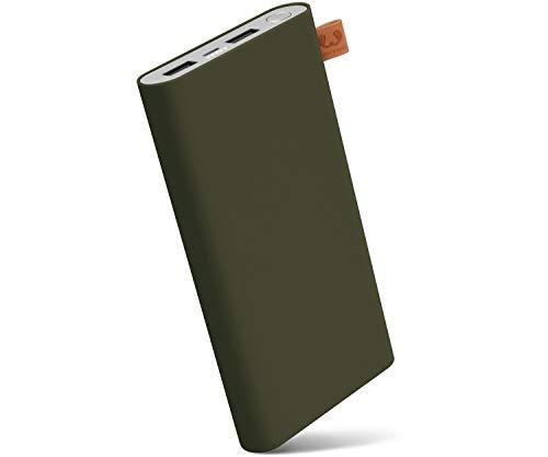 Fresh 'n Rebel Powerbank 12000 mAh Army | Tragbares Ladegerät/Externer Akku mit 2 USB Anschlüssen