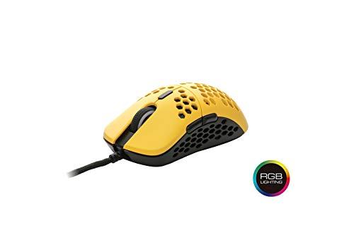 HK Gaming Mira S Ultra ligero Honeycomb Shell - Ratón para juegos con cable (6...
