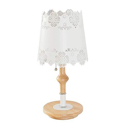 JL Jian Lin Wohnzimmer Schlafzimmer Augenschutz Nachttischlampe Led Home Kreative Romantische Warme Holz Spitze Studie Schreibtischlampe Tischlampen