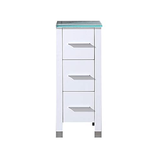 "BATHJOY 12"" White Bathroom Wood Vanity Cabinet"