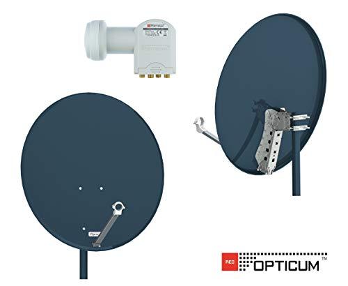 Opticum X80 de Antena parabólica de 80 cm con LNB Quad LQP-