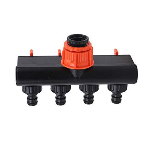 ZYYXB 4 vías manguera de agua de jardín conector de grifo adaptador divisor de tubo de rosca rápida adaptador de manguera de jardín suministros de riego