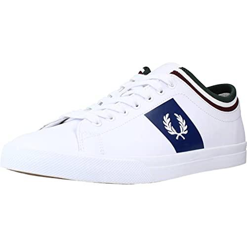Fred Perry - Herrenschuhe Underspin Tipped Cuff Leder B8185 200 Farbe weiß - Weiß, 43 EU All Brands