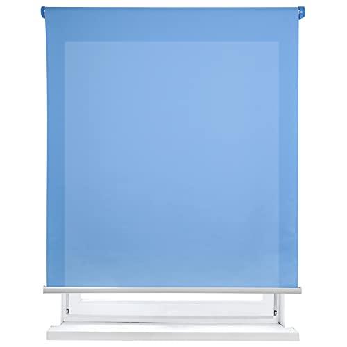 Estor Enrollable translúcido Liso (Azul, 150x180cm)
