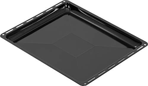 ICQN 455 x 375 x 30 mm Backblech | Emailliert | Fettpfanne für Backofen | Kratzfest | 45,5 x 37,5 cm | Passend für Bosch Siemens Neff Constructa