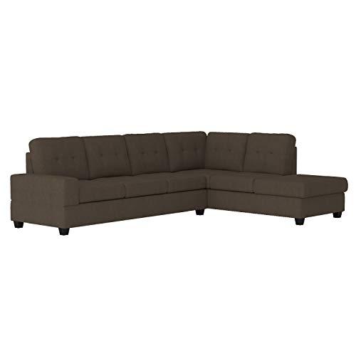 "Homelegance 112"" x 81"" Reversible Sectional Sofa, Chocolate"