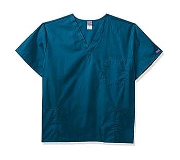 Cherokee Originals Unisex V-Neck Scrubs Shirt Caribbean Blue Large