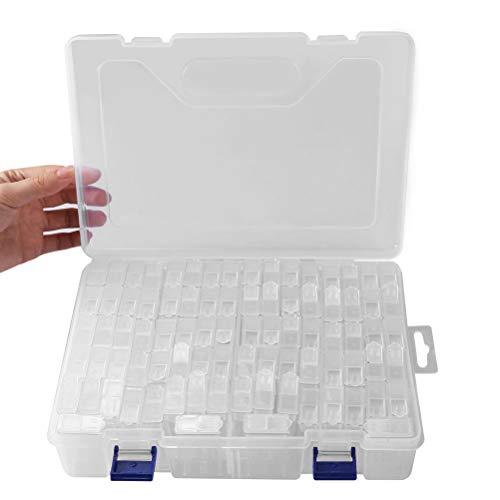Aufbewahrungsbox 84Raster Kunststoff Verstellbare Schmuck Organizer Box Container Aufbewahrungskoffer Sortierbox mit Abnehmbaren für Trennwänden Spulen Perlen Beautyzubehör Nagellack (84grid)
