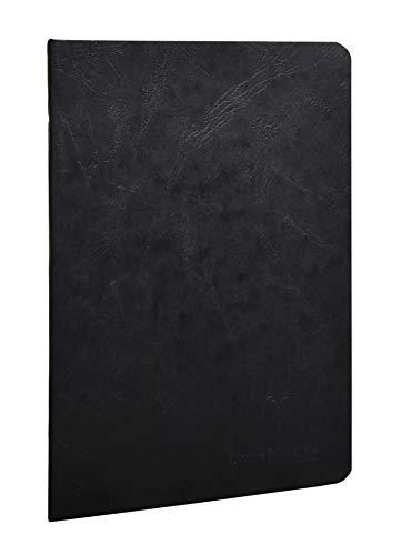 Clairefontaine 733161C Libretto A5, rilegato in borsa d'epoca, foderato, 48 fogli, nero