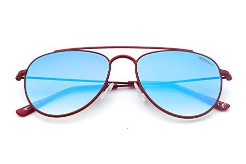 Saraghina Eyewear - Gafas de sol para hombre, 100% fabricadas en Italia, color rojo y azul