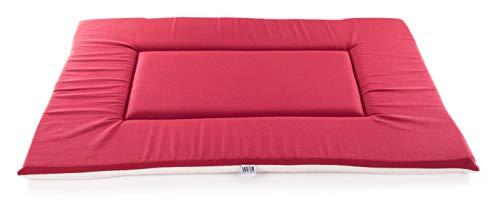 Martin–Sellier Cojín Bandeja rectangular para perros–Classic Red & grey (120cm x 80cm)