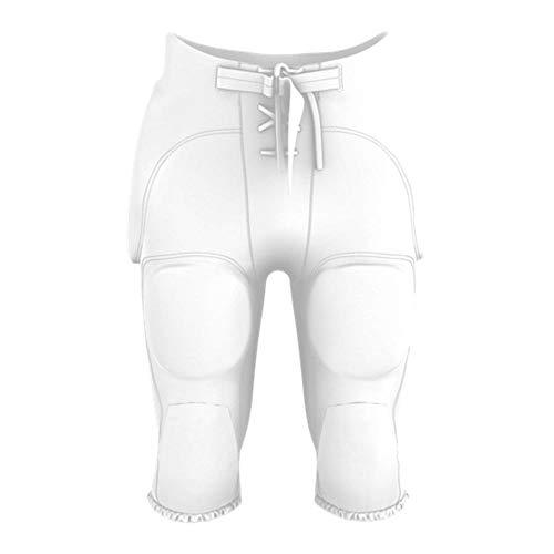 Alleson Erwachsene Pro Style integrierter Game Day Football Pants, Unisex Herren, weiß, XX-Large