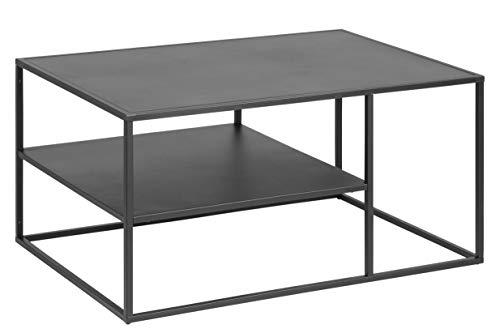 AC Design Nino Couchtisch, schwarz, Metall, B: 90 x H: 45 x T: 60 cm, 1 Stück