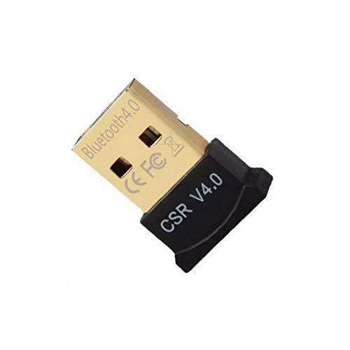 Bluetooth 4.0 USB Low Energy Micro Adapter Dongle für PC mit Windows 10/8.1/8/7 / Vista/XP, Raspberry Pi, Linux und Stereo-Headset kompatibel (Schwarz)