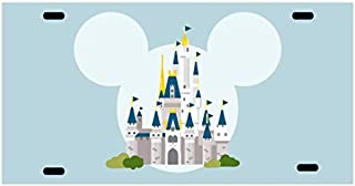 Route 66 Puzzles Walt Disney World License Plate Mickey Mouse Cinderella Castle Minnie Mouse Disneyland Mickey Mouse Minnie Mouse Kissing Personalized UV Coated