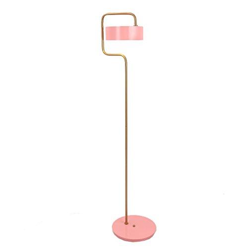 AILI Pieds de Lampes Salon Rose Lampadaire Incurvé Métal Vertical Lampe De Table, Chevet, Canapé Luminaires intérieur Pieds de Lampes