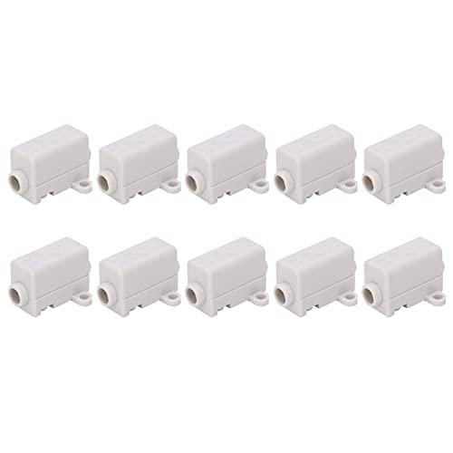 Deror Conector de terminales Tipo T de 10 Uds, Conector de Empalme en línea, Caja de Cable, ensamblador eléctrico ZK-1106 400V 60A