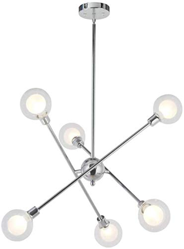 Enige boom in Shape Modern Plafond Verlichting Kroonluchter Lampen Inclusief 6 Bedroom Kitchen Modern glazen bol Luster Chrome