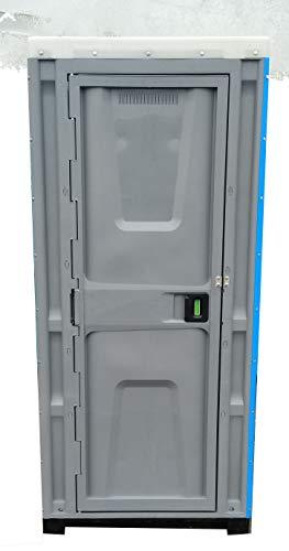 Varile BLAU Plastik WC Kabine, Toilettenkabine, Mobile WC, Baustelle WC, Garten WC
