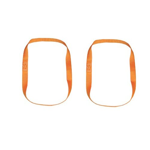 Braun Motorfiets Bike-Lashing sjorbanden, kleur oranje, eindeloze lussen 1 m omtrek, bandbreedte 25 mm, set van 2