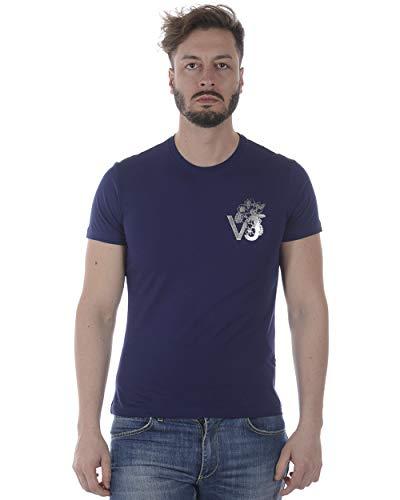 Versace Jeans - Camiseta Hombre B3GRA77F Blue Print VJ Flow Slim MC L