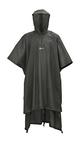 Wäfo Unisex PU-beschichteter Spezialponcho Monsun, braunoliv, one size, 4011