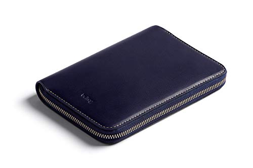 Bellroy Travel Folio, Premium Leather Travel Organizer, RFID protected (Fits 2 passports, 4-8 cards, boarding passes, cash and a pen) - Navy