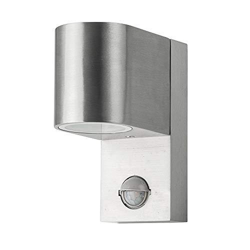 Grafner® Aluminium Außenleuchte mit Bewegungsmelder Wandlampe Down Aussenlampe 1x GU10 IP44