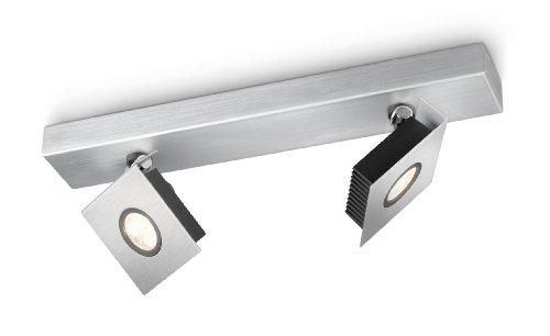 Philips myLiving Metrys LED Aufbauspot, 2-flammig, aluminium 564324816