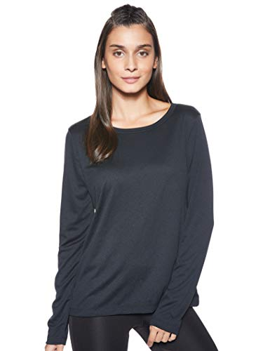 Nike Top Long-Sleeve Elastika, Maglietta a Maniche Lunghe Donna, Nero (Black/Black 010), Small